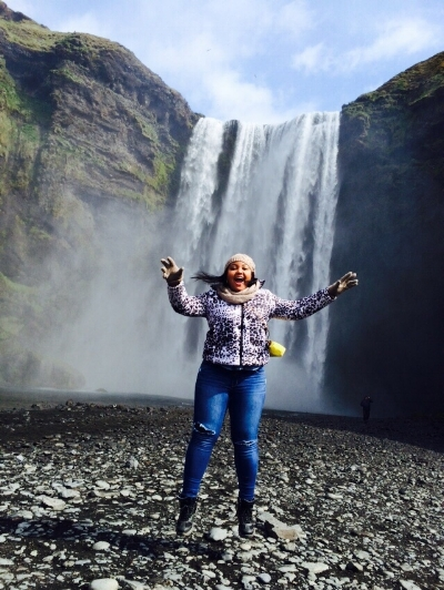 Chasing waterfalls in Skogafoss, Iceland