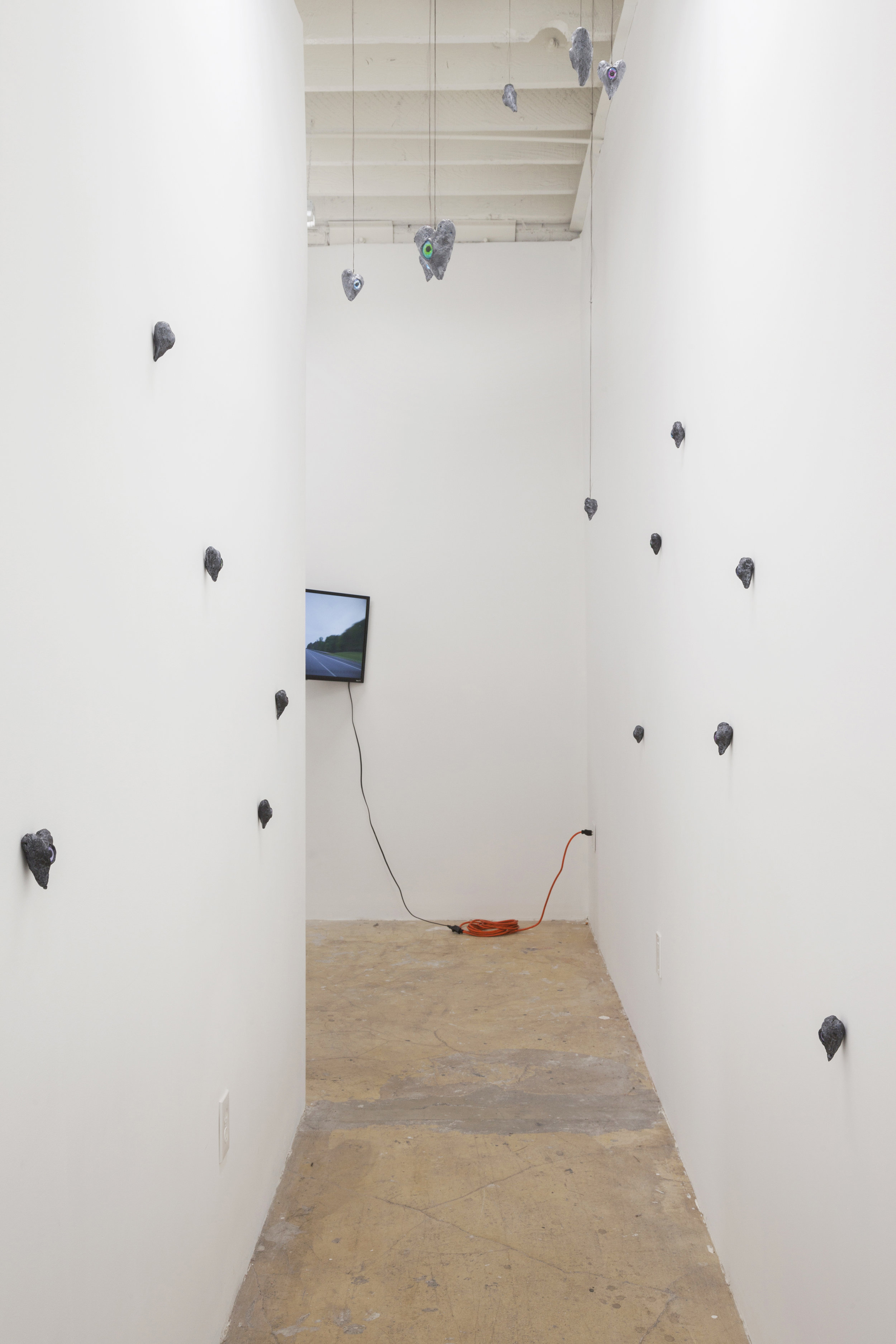 Installation View of  DEATH DRIVE JOY RIDE,  June 9th through August 8th, 2018.