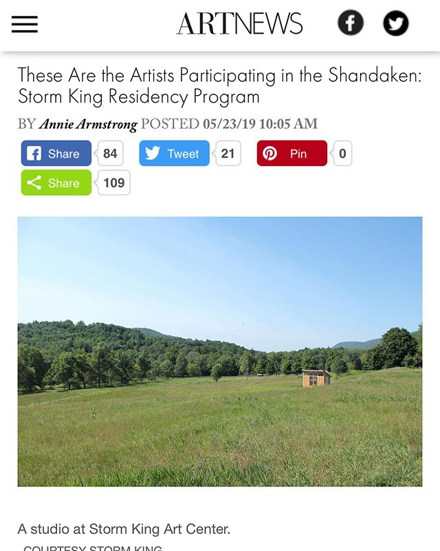 Congratulations to #catalinaouyang for joining  Storm King residency program as one of the 15 artists at @stormkingartcenter this year!
