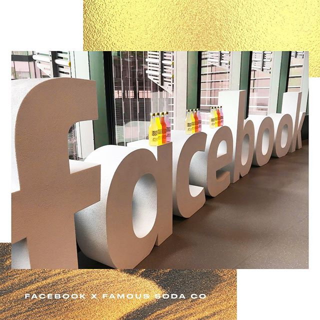We are proud to announce we are now available at @facebook HQ! ⭐️🌟✨ #Facebook #famousodaco #famousfacebook #sodalicious #zerosugar #nosugar #australianmade #australian #famousforareason #golden #followme #soda #drink #yum #famous #love #cute