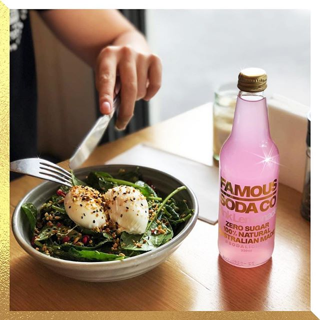 Easy like Sunday Morning. 📸 @littlelococafe @qualityfoodsau #morningglory #sunday #weekend #famoussodaco #littlelococafe #soda #sugarfree #zerosugar #australianmade #natural #drinkstagram #sodalicious #love #pink #pinklemonade