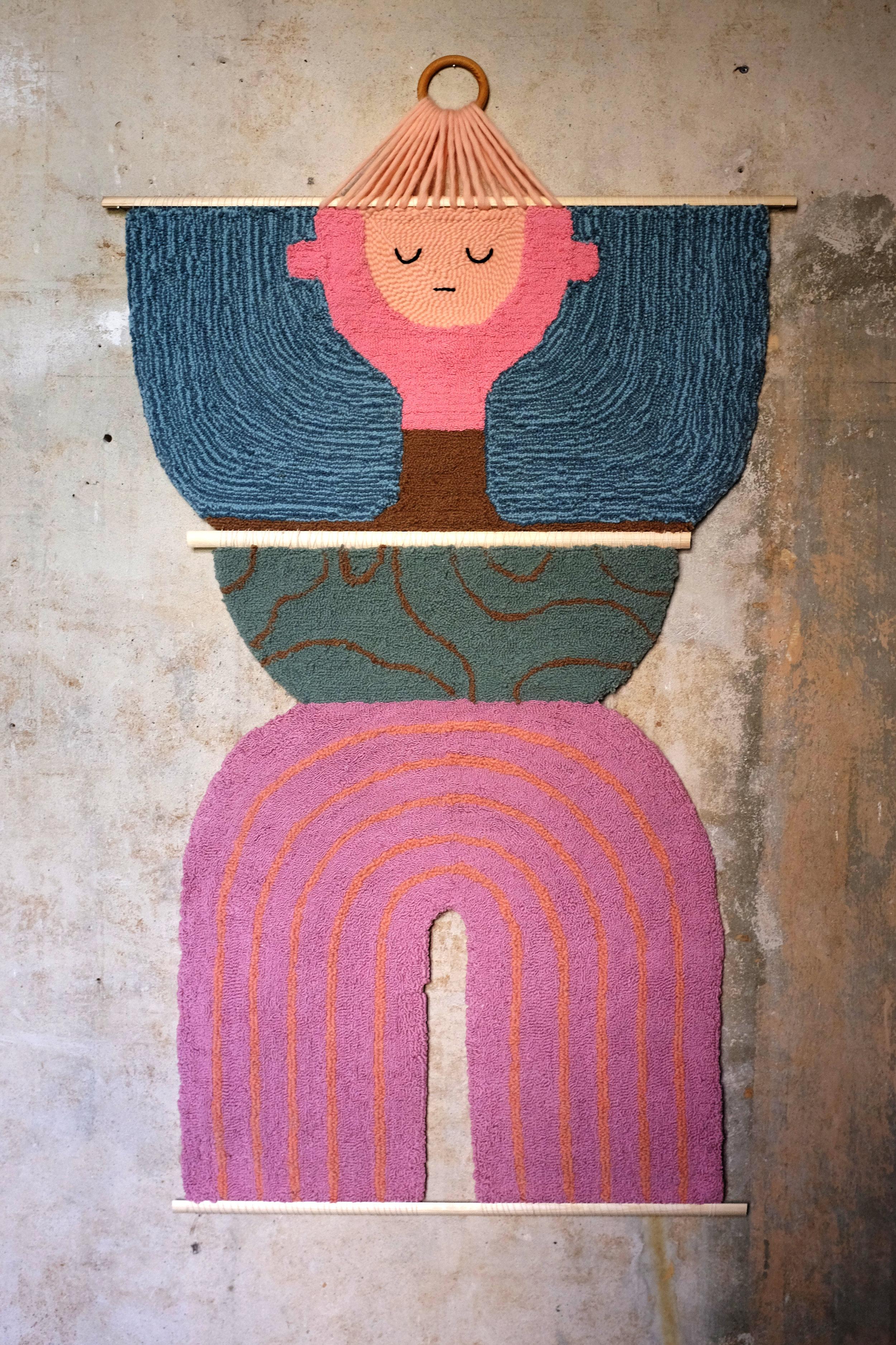The wallhanging now lives at  Kuratiert gallery  in Kreuzberg, berlin