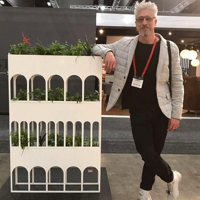 Vivid 2019... My Colonnade and me. Thanks to Rachel from @habiodesign for sharing the photo! ♥️ #colonnade #vividawardsfinalist #VIVIDDesignComp #designcompetition #decoranddesign2019 #formacy #manuelcanestrinicreative #productdesign #contemporarydesign #productdesign #vividaward #melbourneexhibitioncenter #madeinmelbourne #kfive #homewares #kfivefurniture