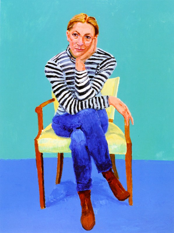 David Hockney: 82 Portraits, 1 Still Life: Edith - I love the gesture and the color palette that Hockney uses in this painting as well as the direct female gaze.