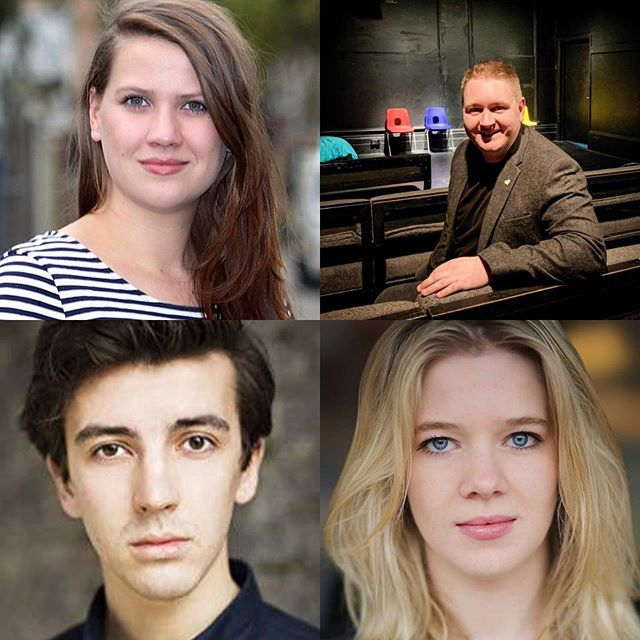 ⭕️ Our utterly brilliant directors that are directing pieces at Far Cry Scratch 2 (19/05/2019). Aime Neeme, David Brady, Bertie Taylor-Smith and Elizabeth Benbow.  TICKET LINK IN BIO ⭕️ #theatre #farcrytheatre #directors #stage #screen #lamda #spokenword #choreography #music #dance #scratchnight #fringetheatre #london #headshots @landutheatre #londontheatre #tickets