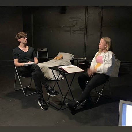 @ross_kernahan and @abbi_douetil in rehearsal with director @davidbrady83 for Far Cry Scratch 2! ⭕️ TICKET LINK IN BIO! #theatre #farcrytheatre #actorslife #londontheatre #inspiration #actor #actress #rehearsals #rehearsing @landutheatre #scratchnight #fringetheatre #performance #music #spokenword #newwriting