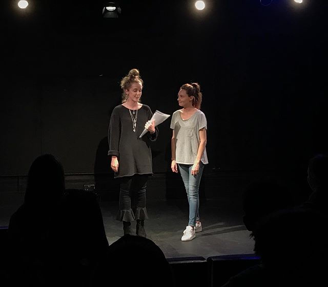 @claireelowrie and @gabriellelily the co-founders of @farcrytheatre at Far Cry Scratch 2 last night. A huge thank you again to all who attended and were involved. We had such a fantastic night with you all 😊 #farcrytheatre #theatre #london @landutheatre #stage #screen #presenting #actor #actress #acting #theater #actors #musician #spokenword #newwriting
