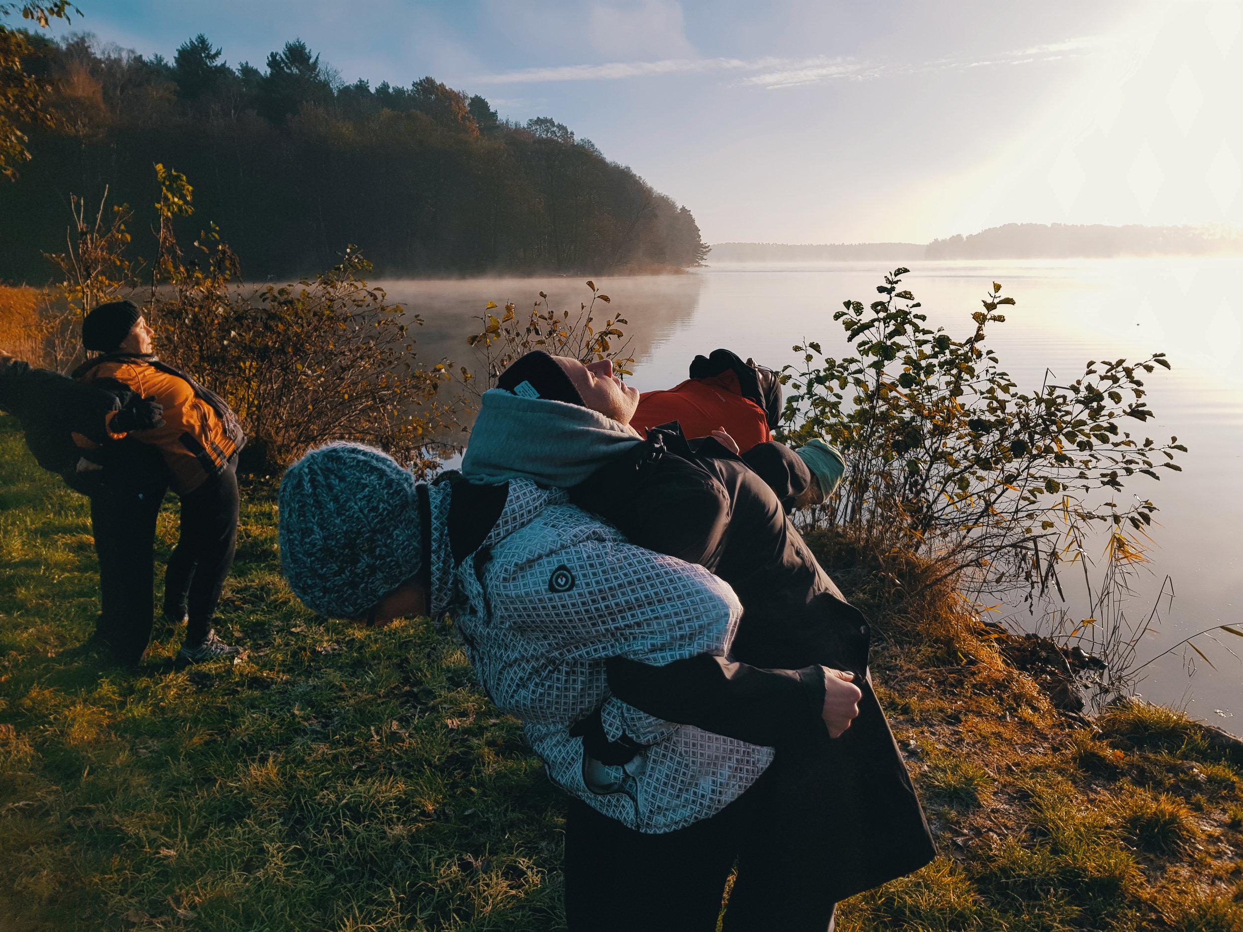 Morgengymnastik - Fastenwandern