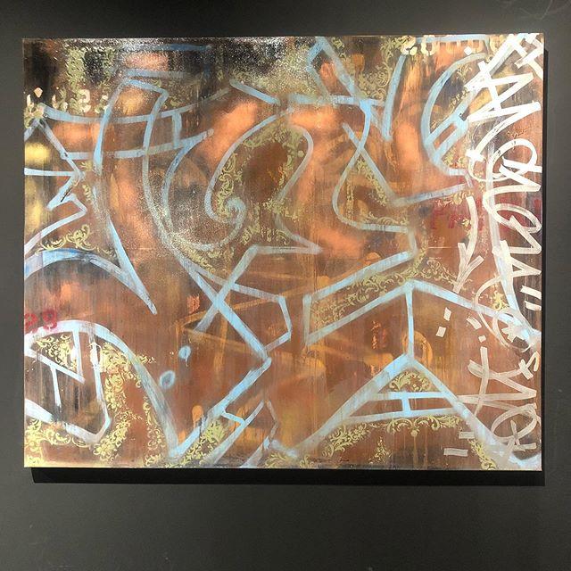 "New Artwork by ""SEN-1"". Title; ""River's Edge""  Size; 120 x 100 cm / 47.2 x 39.4 in. Photo credit: ""Mitali Mookerjee"" #galleryartist #sen1instafeed #art #artopening #explorepage #instaart #artofinstagram #graffitiart #fineart #fineartwork #fineartphotography #galleryart #illustration #decorart #wallart #gallerywall #oilpainting #canvaspainting #contemporaryart #graffitiporn #style"