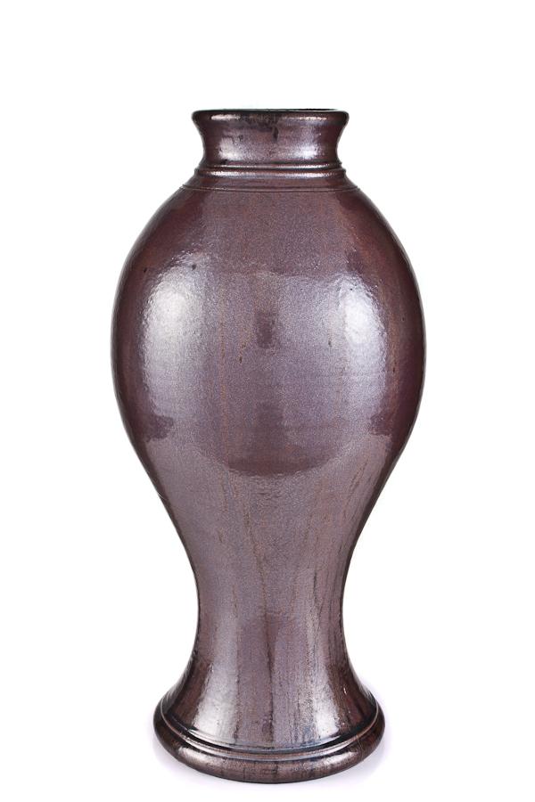 Iron glaze vase, 30x14, $950