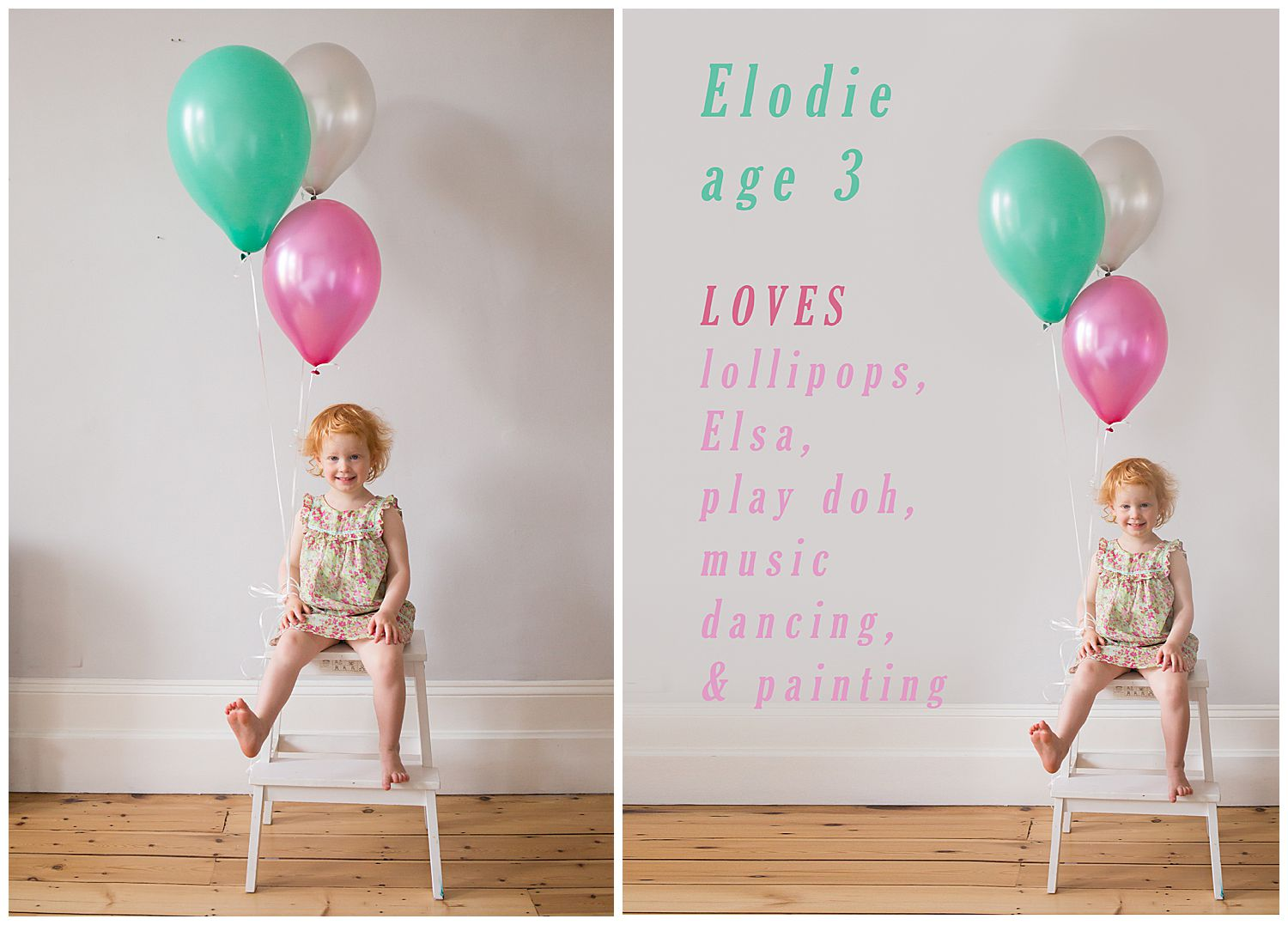 birthday photos with balloons