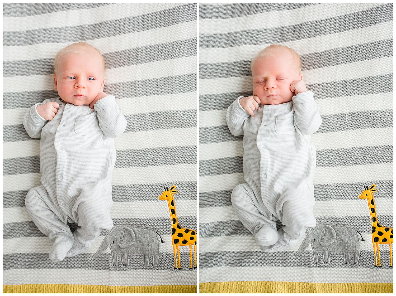 baby on baby blanket