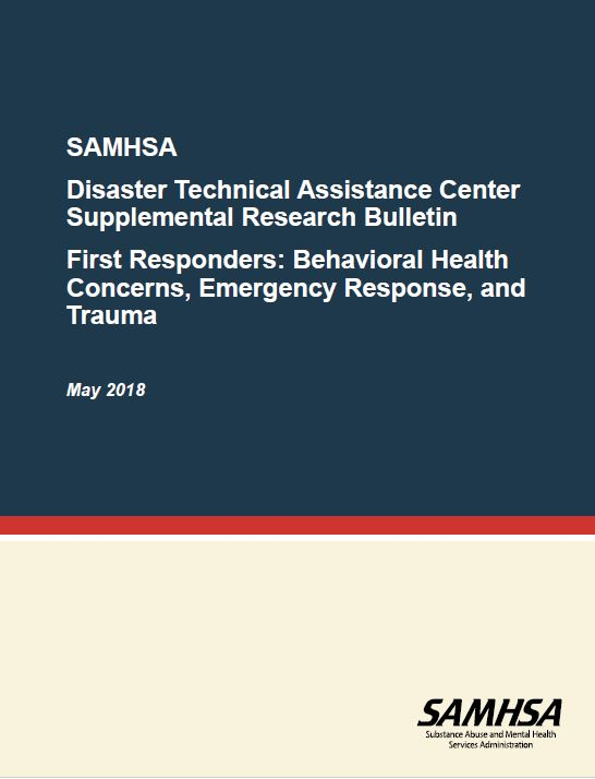 SAMHSHA: Behaviroal Health Concerns, Emergency Response and Trauma