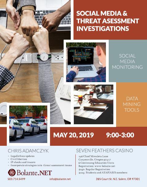 Socail Media & Threat Assessment Investigations Training