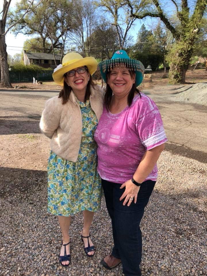 Lisa Wilson from Clear Lake Campground and I - she's always such a breath of StressLess Camping.