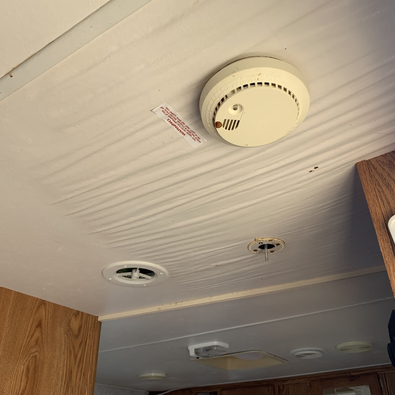 Even a small leak in an RV's roof can cause fairly extensive damage.