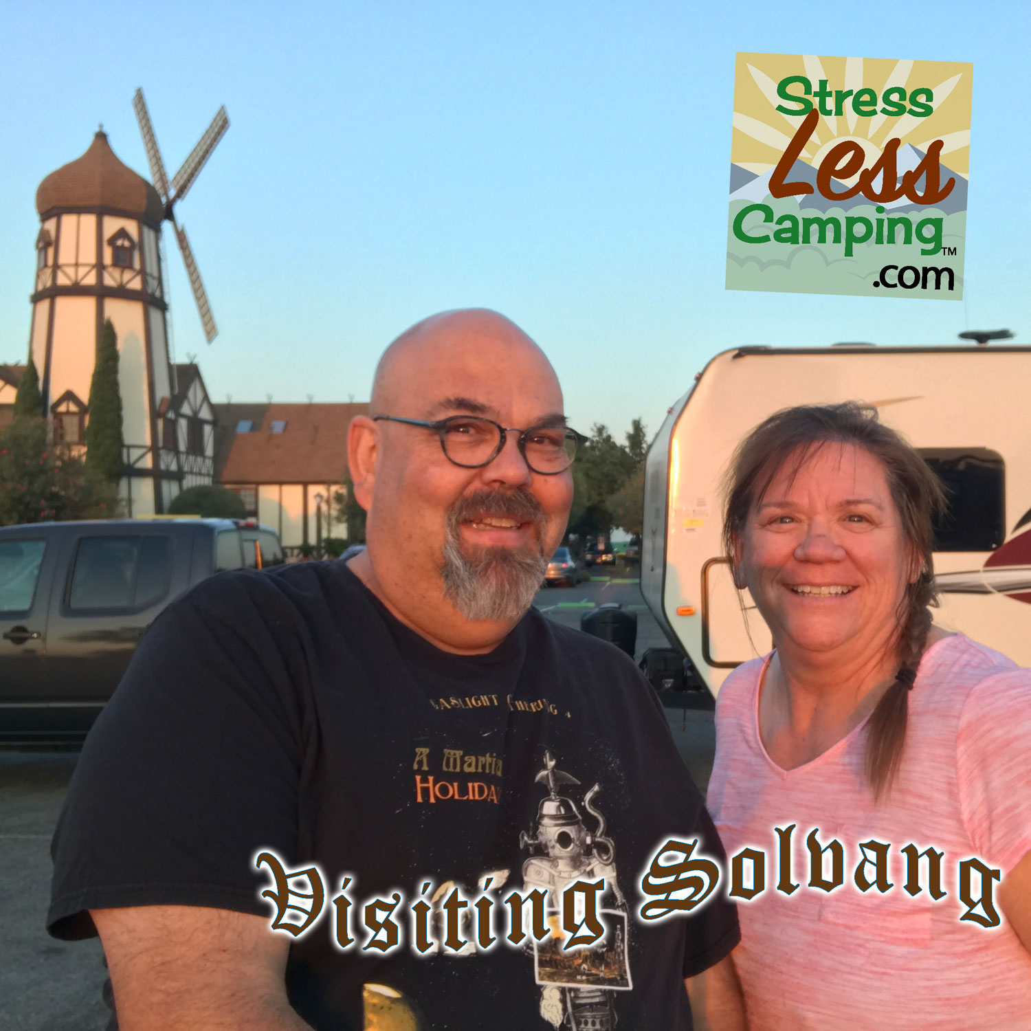 Tony and Peggy in front of Pea Soup Andersen's (albeit this one in Santa Nella). They also have a restaurant in Buellton outside of Solvang.