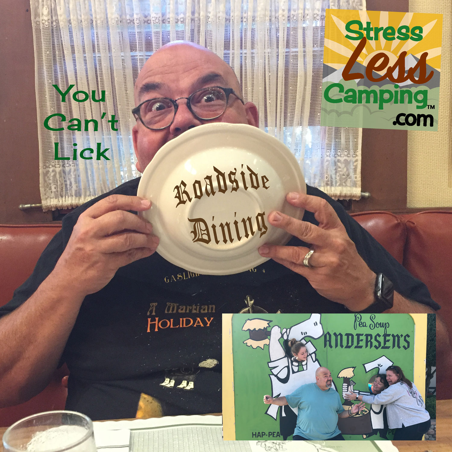 Tony proves that you can't lick Andersen's famous pea soup.