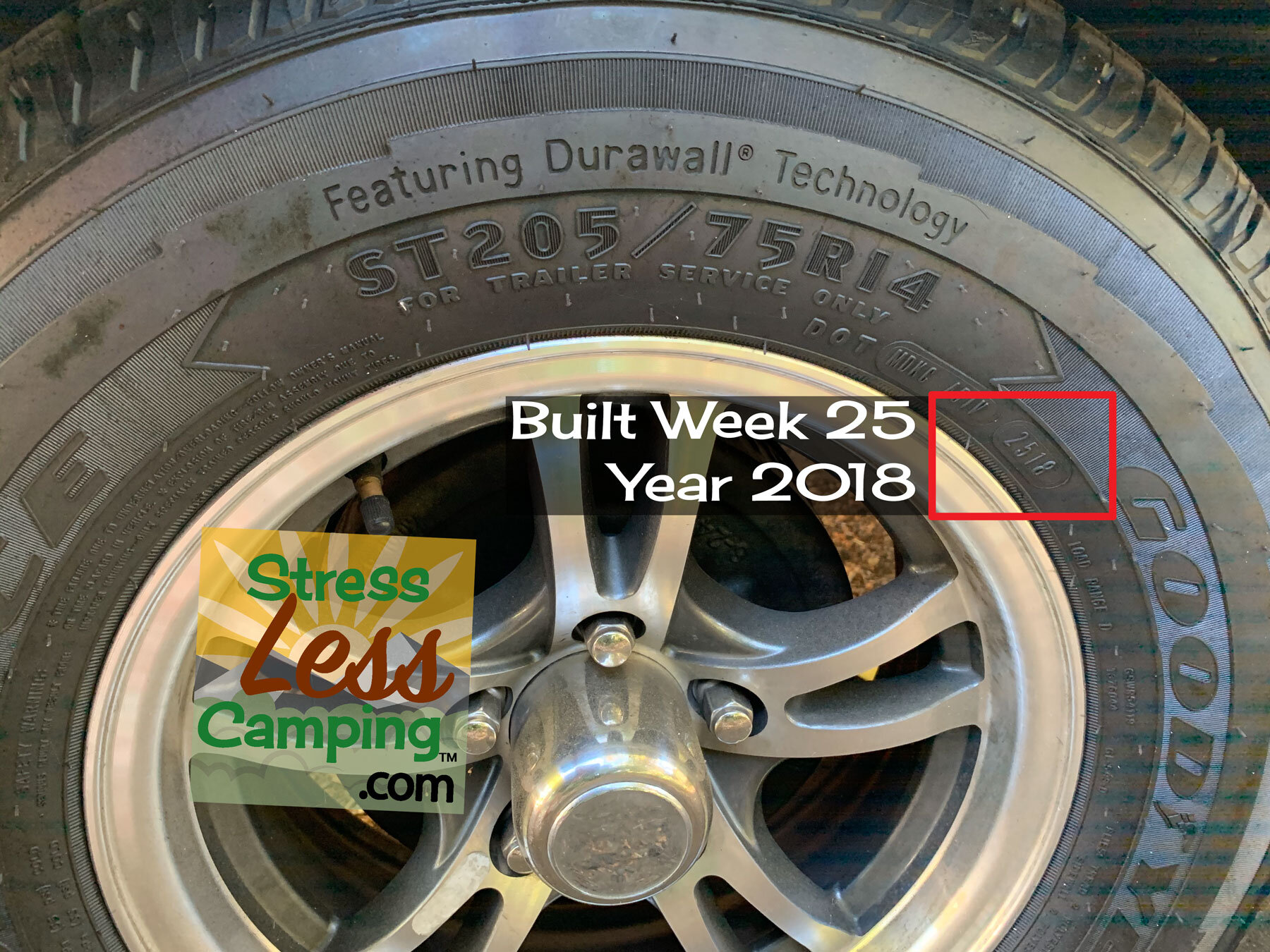 How to determine the manufacture date of your RV's tires.