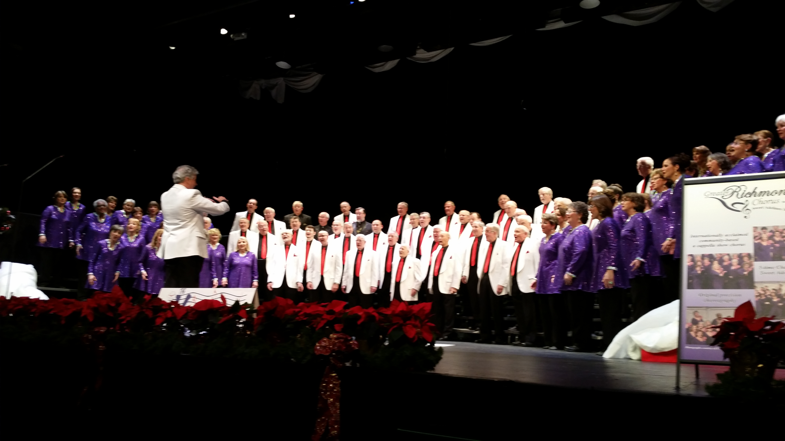 Christmas Show with the Greater Richmond Chorus in 2014