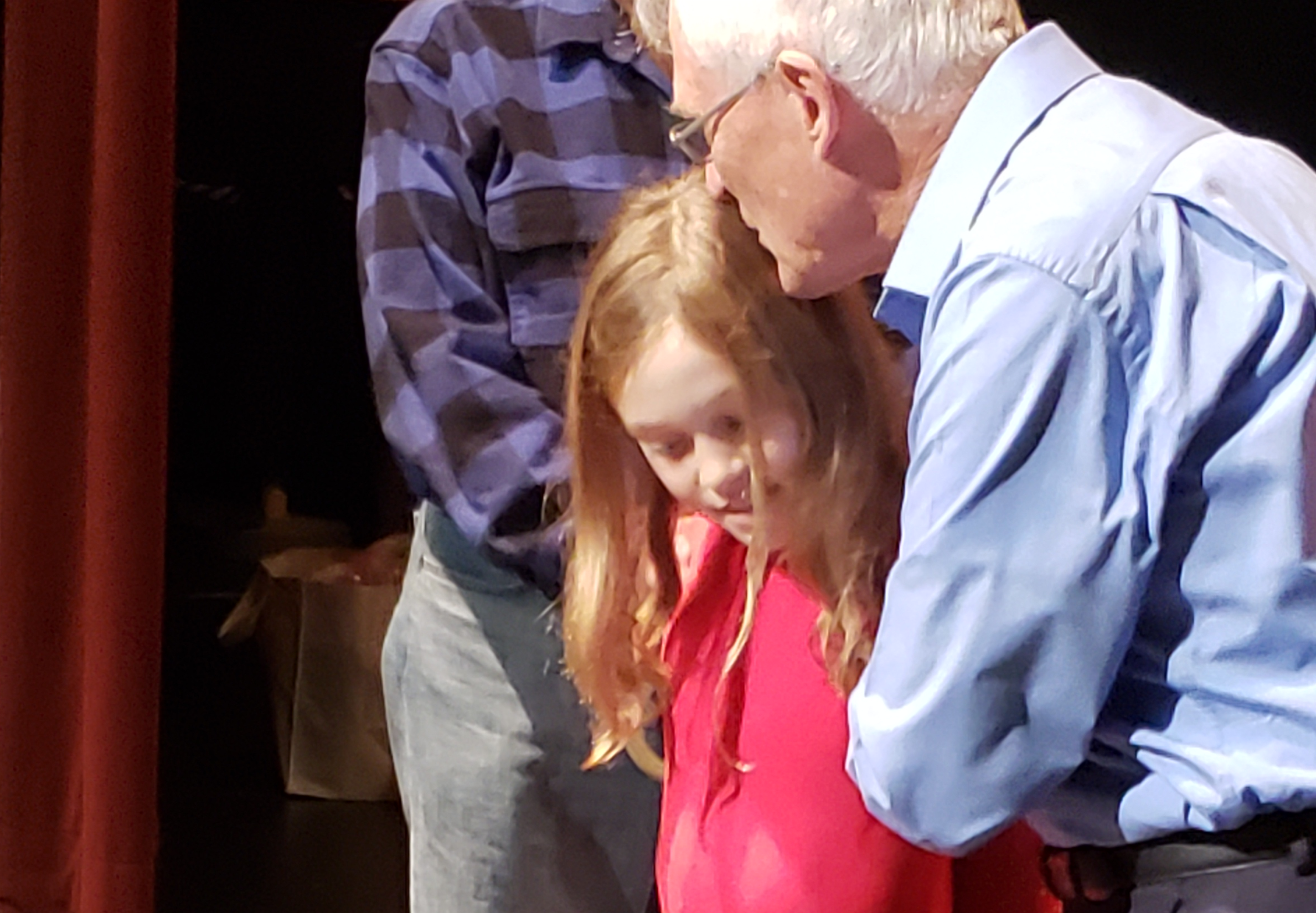 Hannah receives encouragement from Bob Wilson
