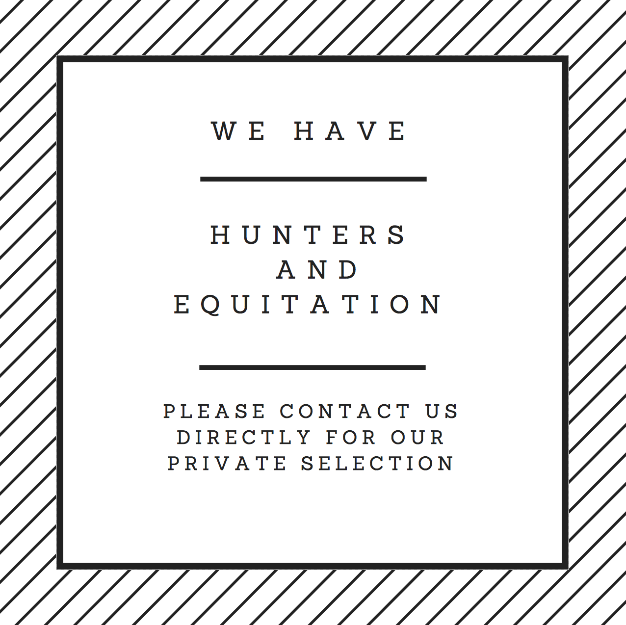 hunter equitation for sale in Europe