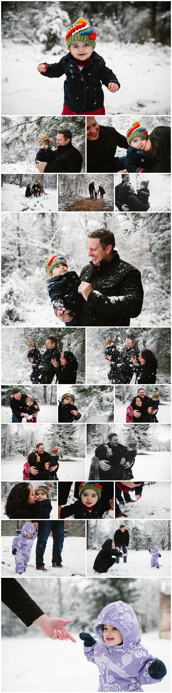 Leesburg Virginia Snowy Winter family photography