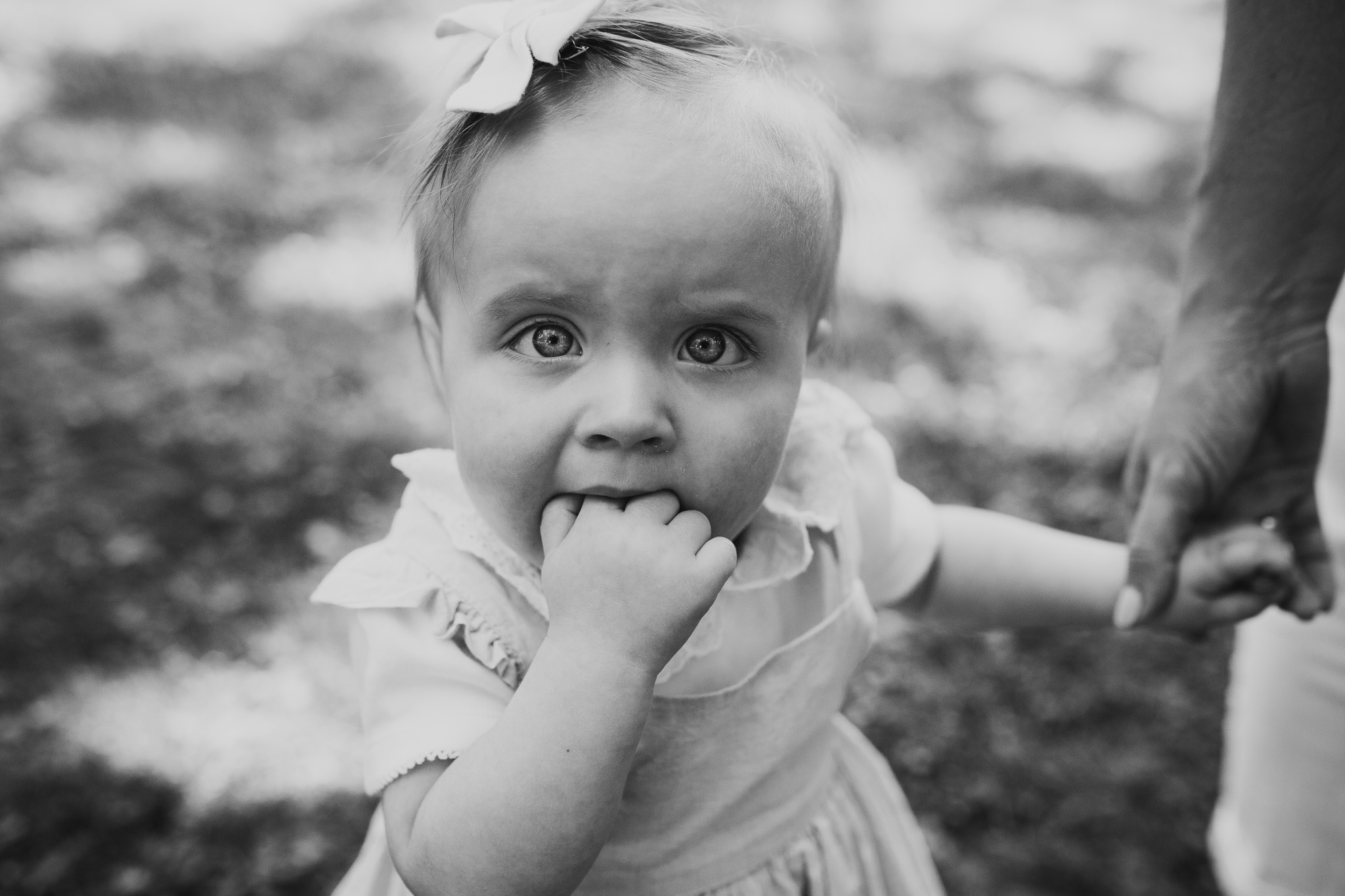 Black and white toddler girl family photography Colvin Run Mill Great Falls Virginia