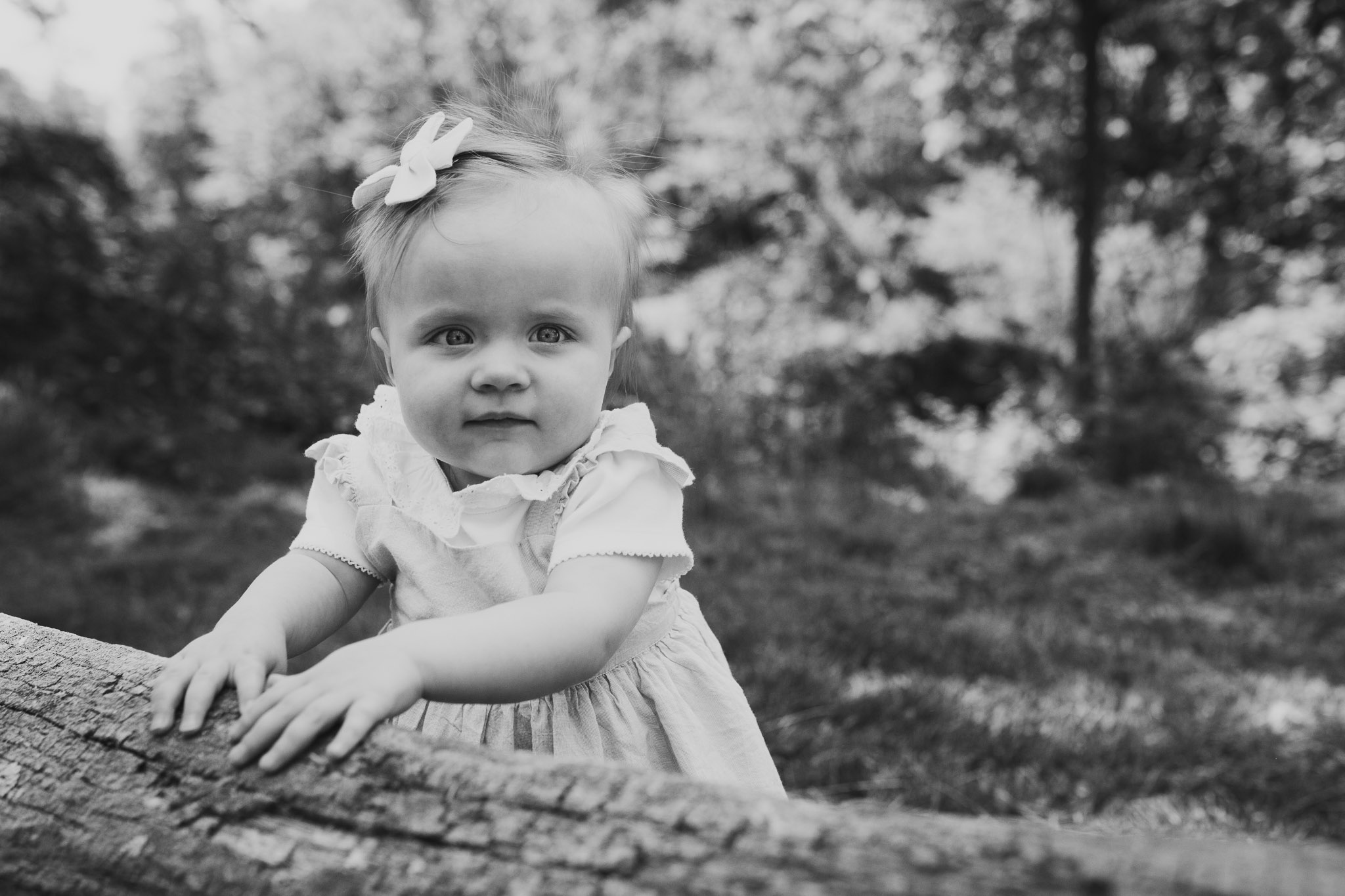 Black and white toddler childhood family photography Colvin Run Mill Great Falls Virginia
