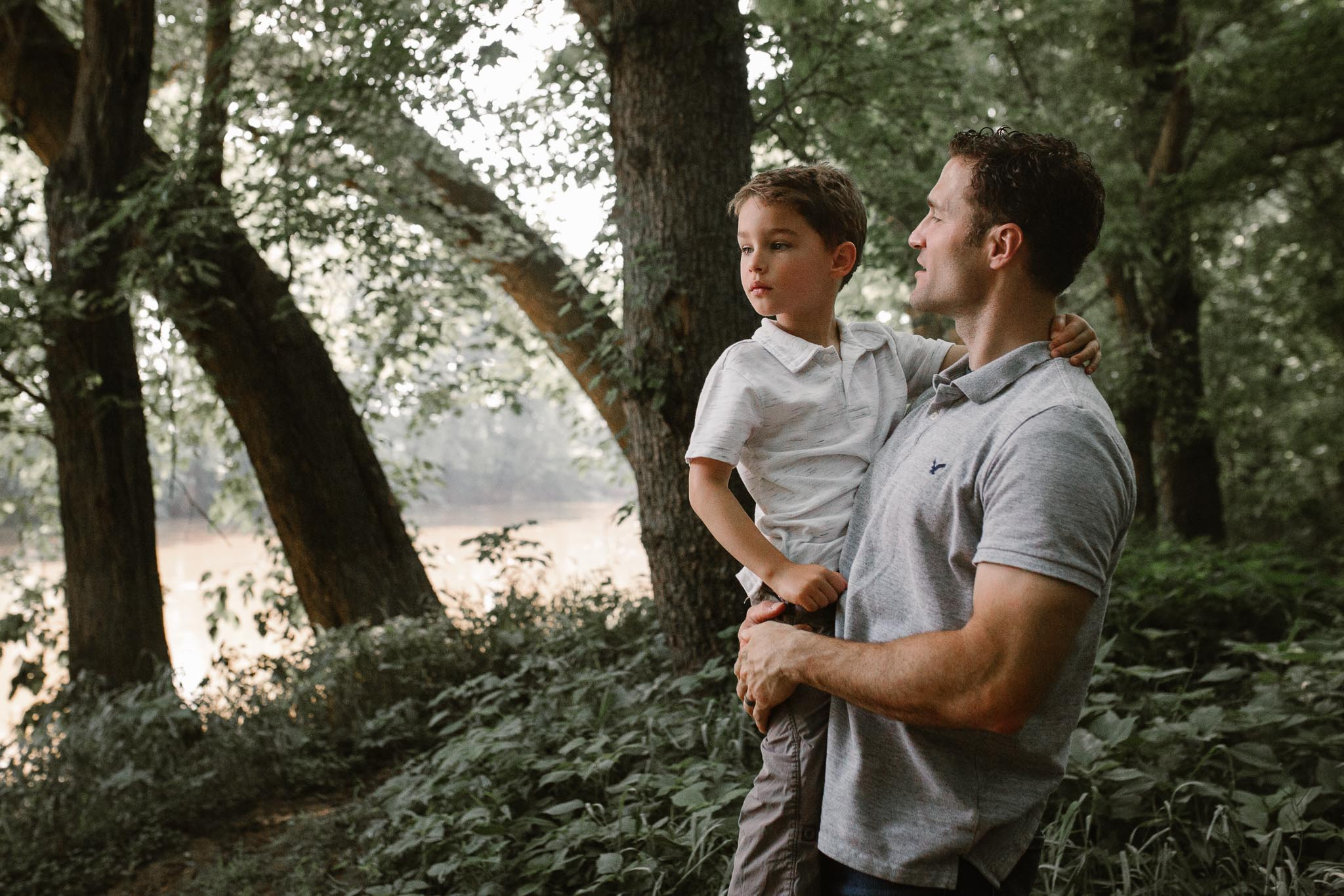 lifestyle family photography father and son  at Bles Park in Ashburn, Virginia