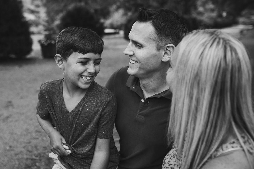 Black and white family photography Marti Austin Photography morven park leesburg virginia