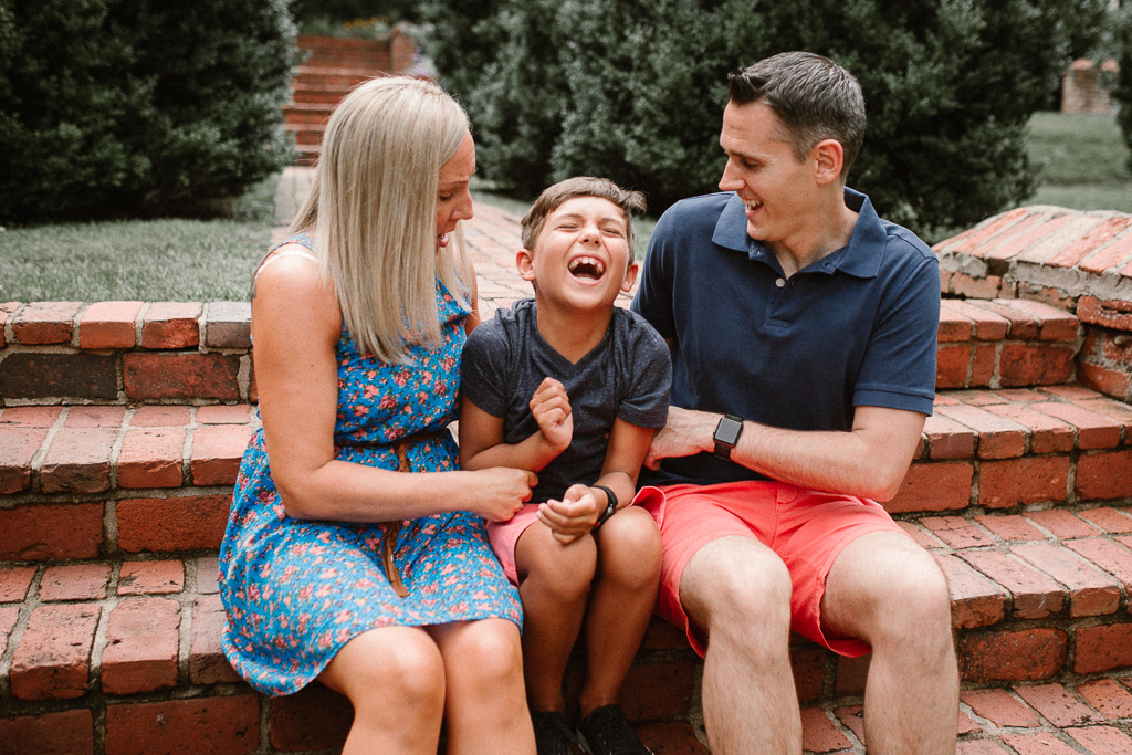 Family of three laughing lifestyle photography Marti Austin Photography Morven Park Leesburg Virginia