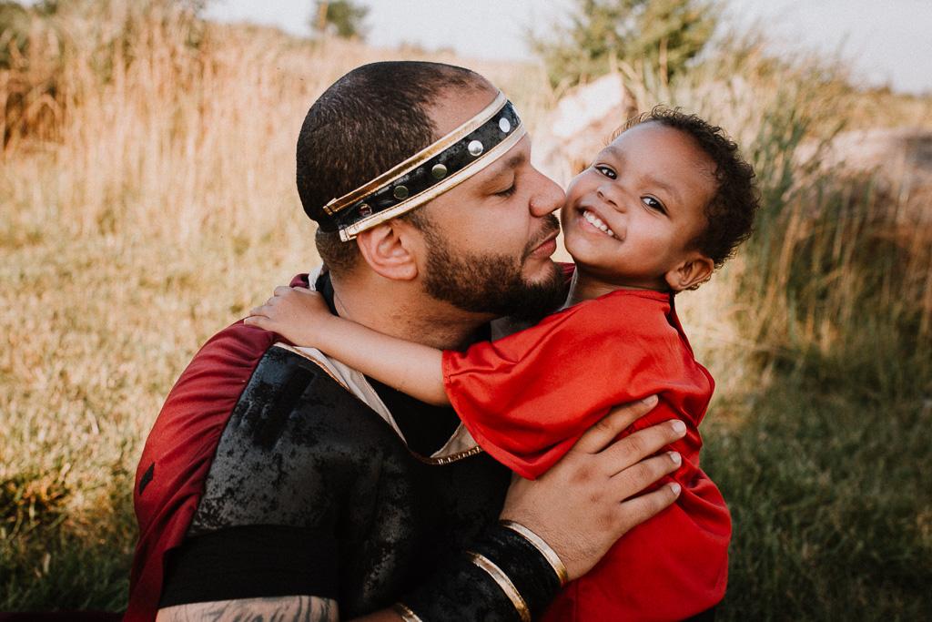Father son sunset lifestyle family photography fighter warrior Beaverdam Run Ashburn Virginia Loudoun County Marti Austin Photography TGHP The Gold Hope Project