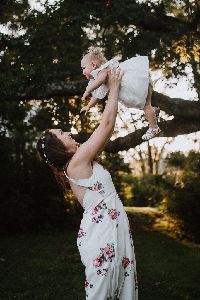 mother daughter toddler throw lift spin golden sunset family lifestyle photography Marti Austin Photography Rust Nature Sanctuary Leesburg Loudoun Virginia