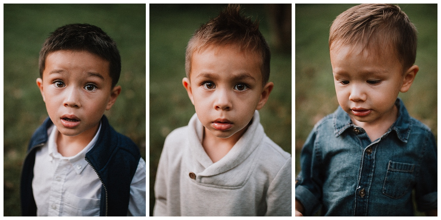 collage three bothers siblings toddler Family Lifestyle Documentary Sunset Golden Hour Izaak Walton League Leesburg Loudoun Virginia Marti Austin Photography