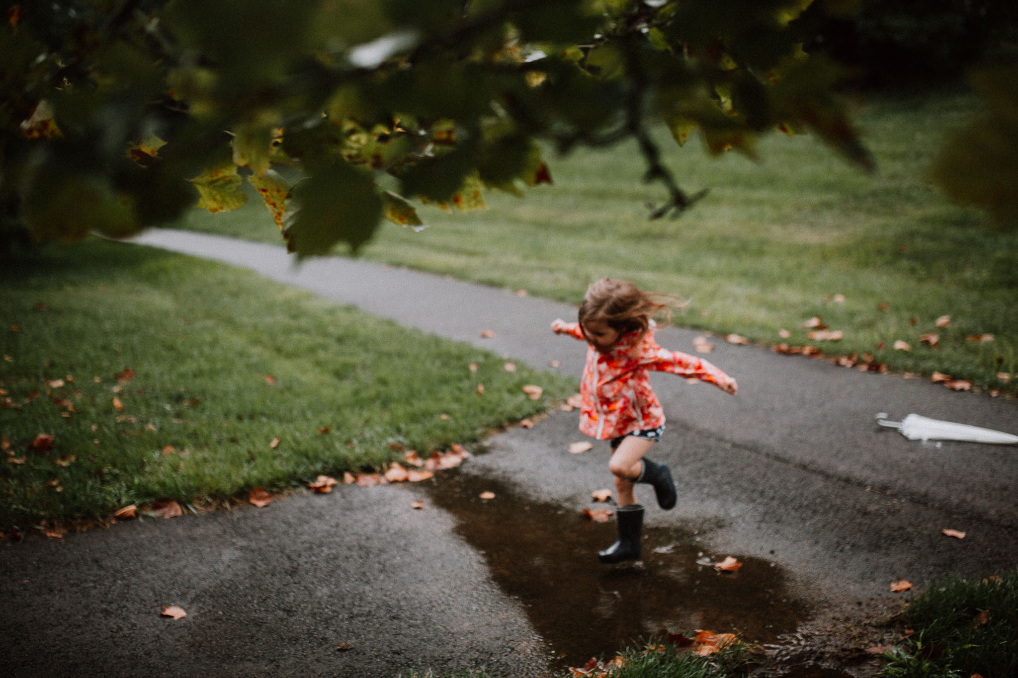 Puddle Jumping Rainboots Toddler Girl Ashburn Virginia Lifestyle Documentary Family Marti Austin Photography