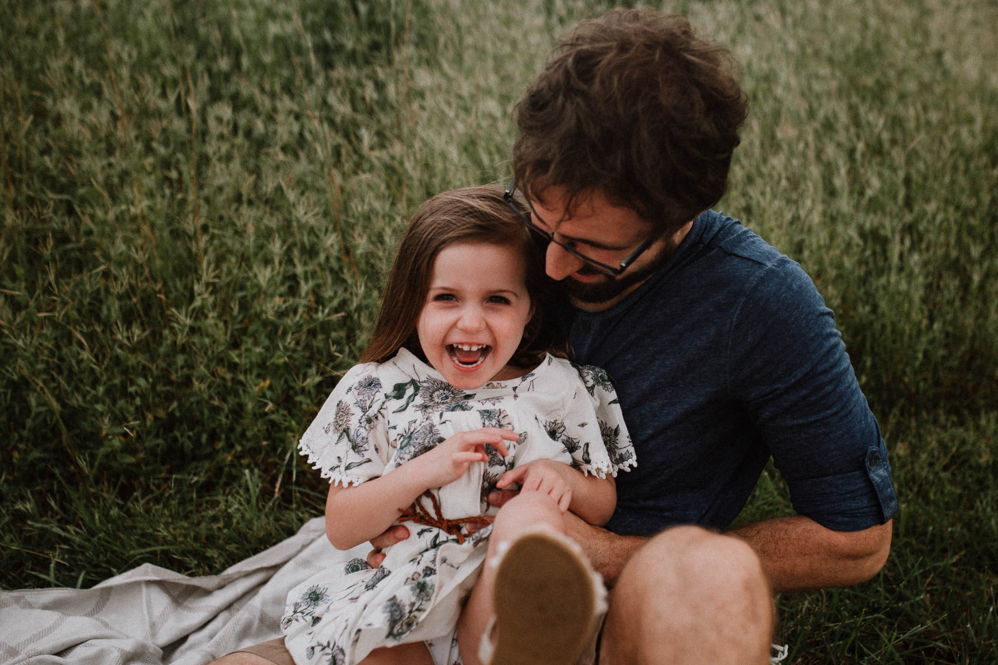 Daddy Daughter tickle hug laugh Toddler Girl Ashburn Virginia Lifestyle Documentary Family Marti Austin Photography