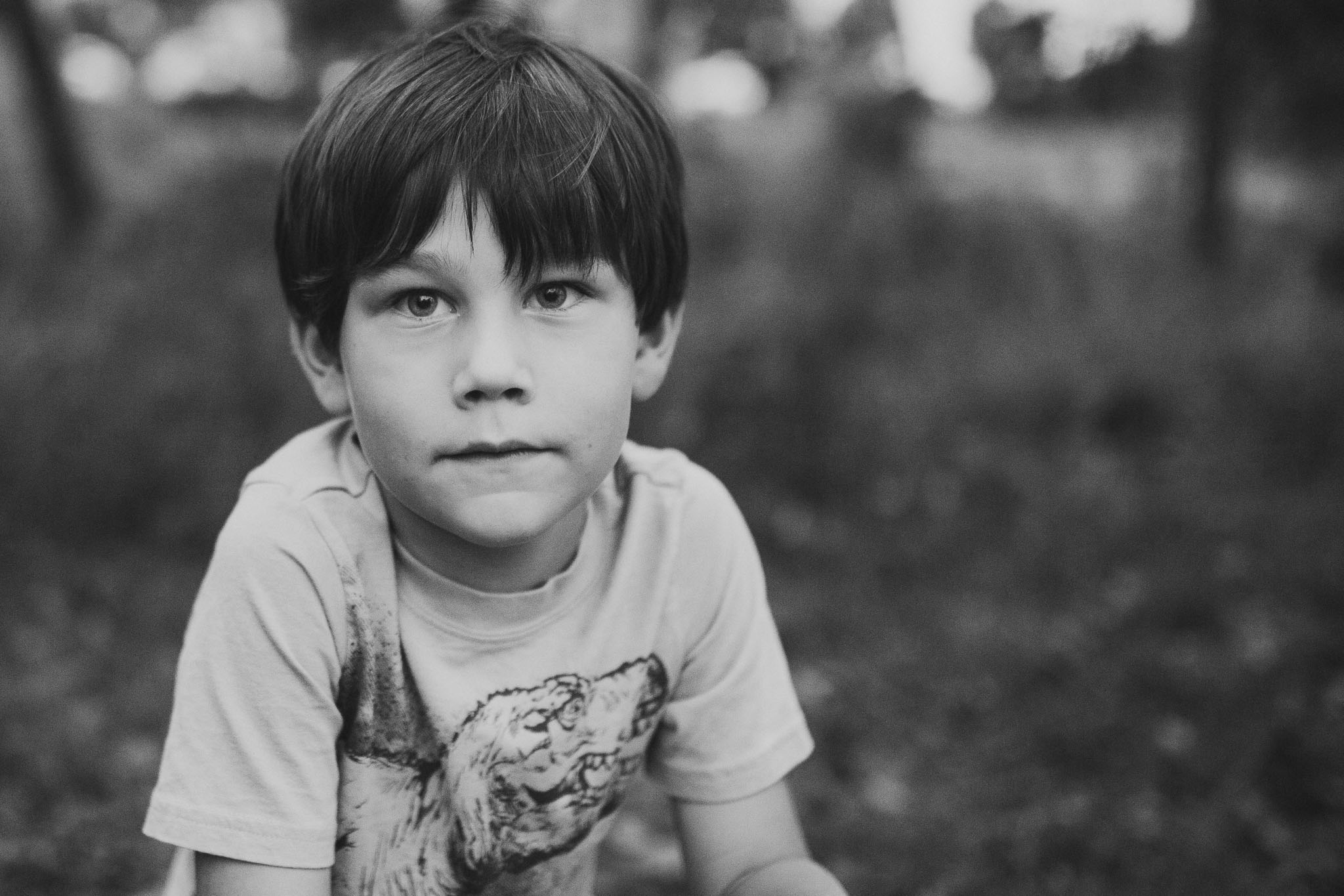 black and white portrait boy Lifestyle Documentary family The Barn at One Loudoun Ashburn Virginia Marti Austin Photography