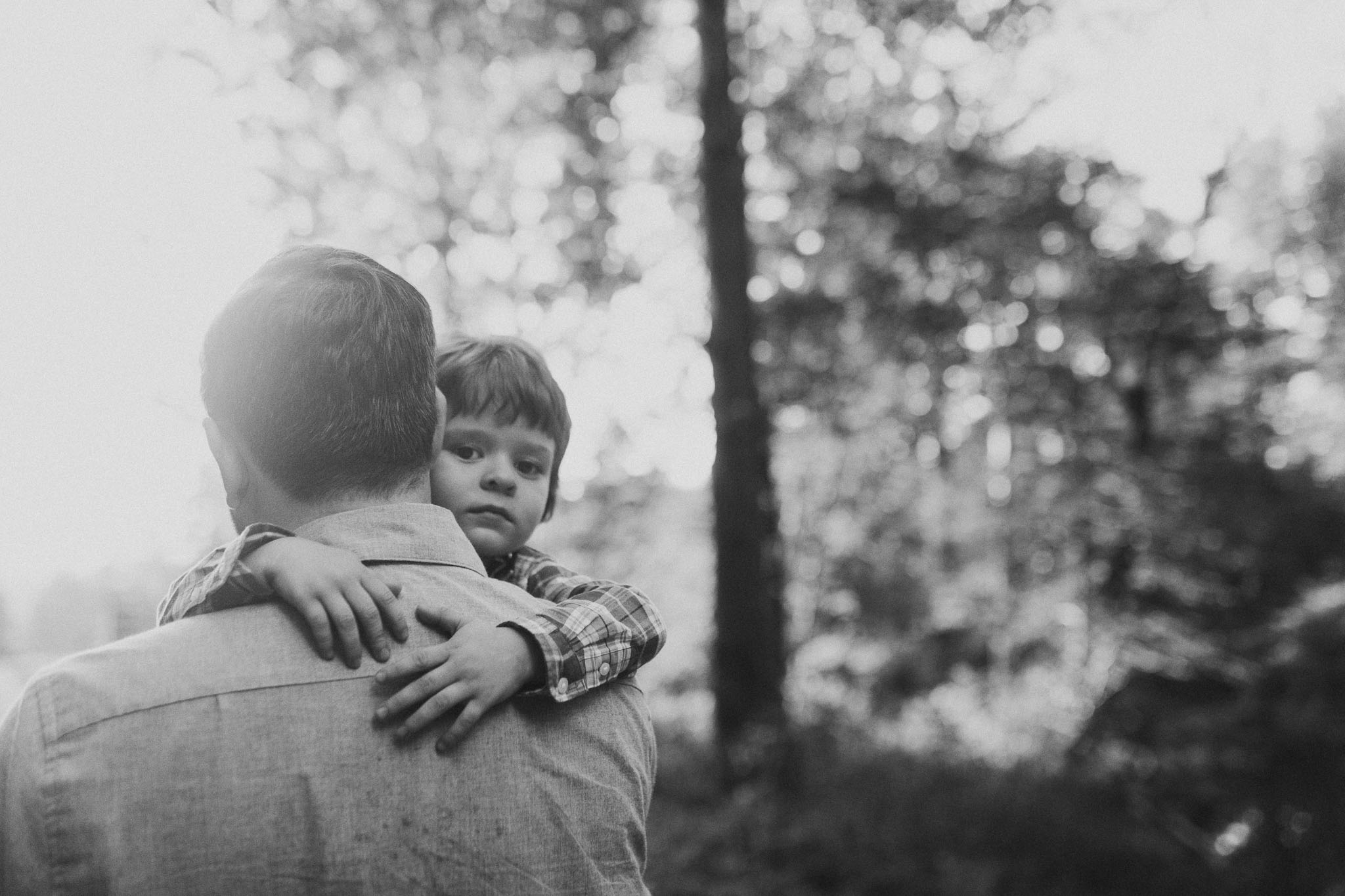 Black and white father son Fall Autumn Cabell's Mill Ellanor C. Lawrence Chantilly Fairfax Virginia Lifestyle Documentary Family Marti Austin Photography
