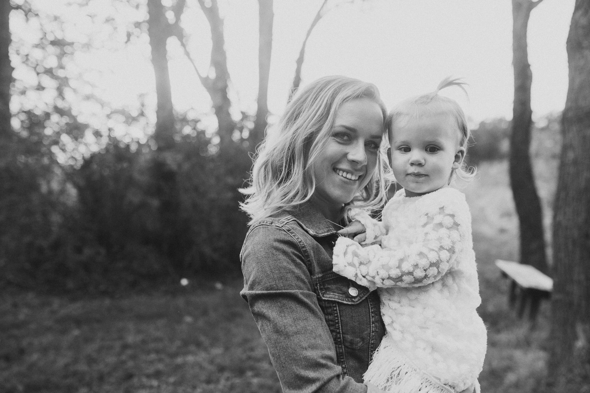 Black and white mother daughter family sunset golden Rust Nature Sanctuary Leesburg Loudoun Virginia Lifestyle Documentary Marti Austin Photography