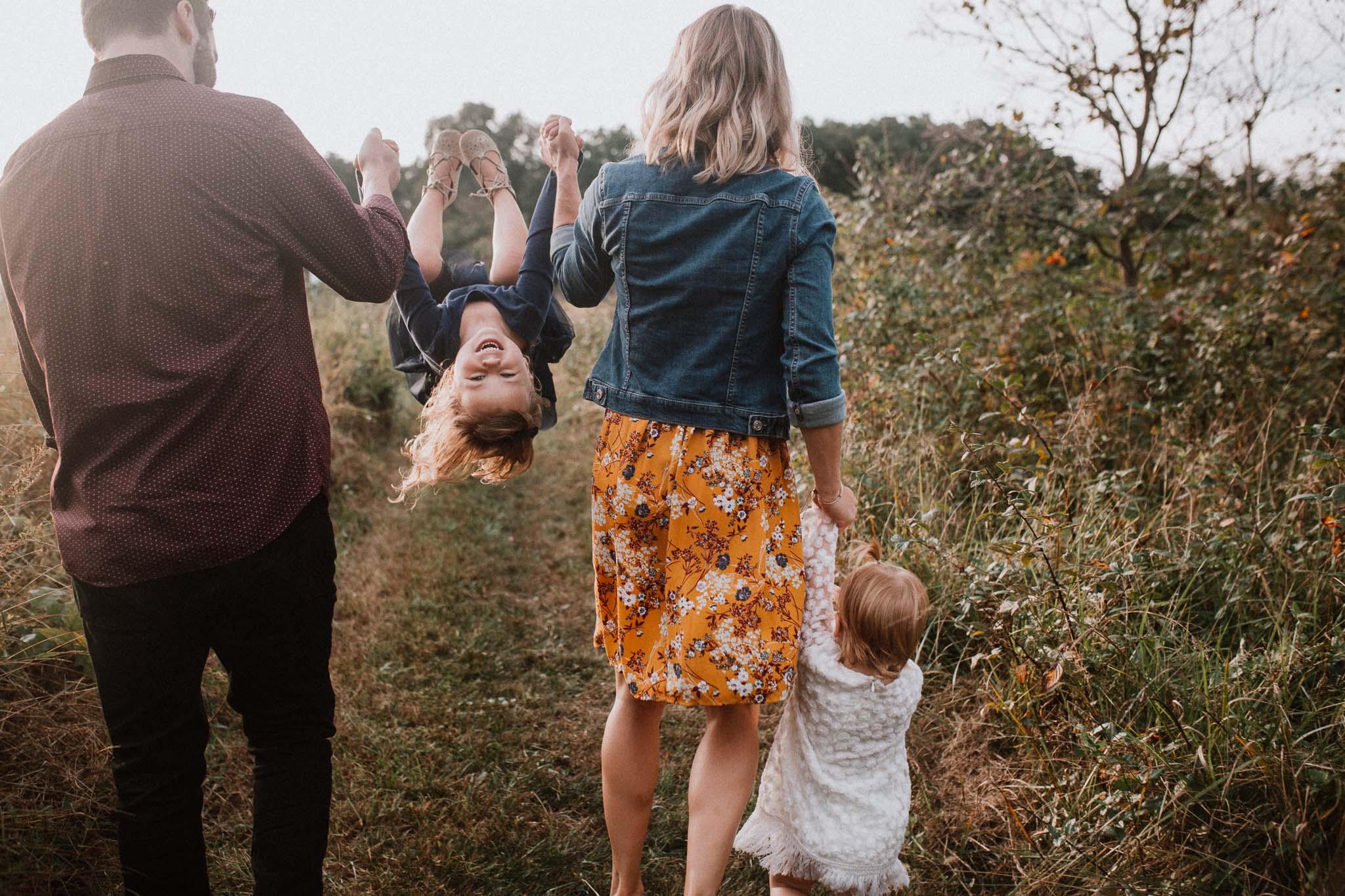 daughter siblings swing family sunset golden Rust Nature Sanctuary Leesburg Loudoun Virginia Lifestyle Documentary Marti Austin Photography