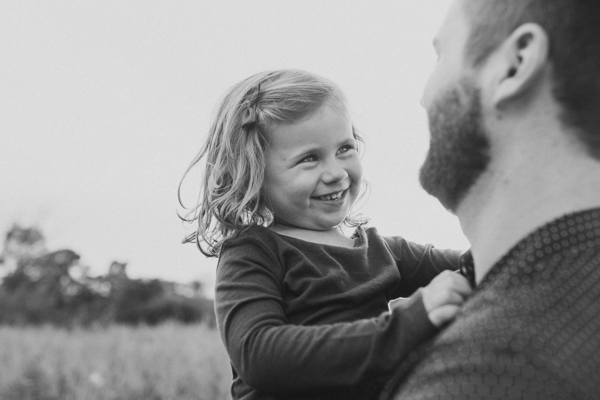 Black and white father daughter family sunset golden Rust Nature Sanctuary Leesburg Loudoun Virginia Lifestyle Documentary Marti Austin Photography