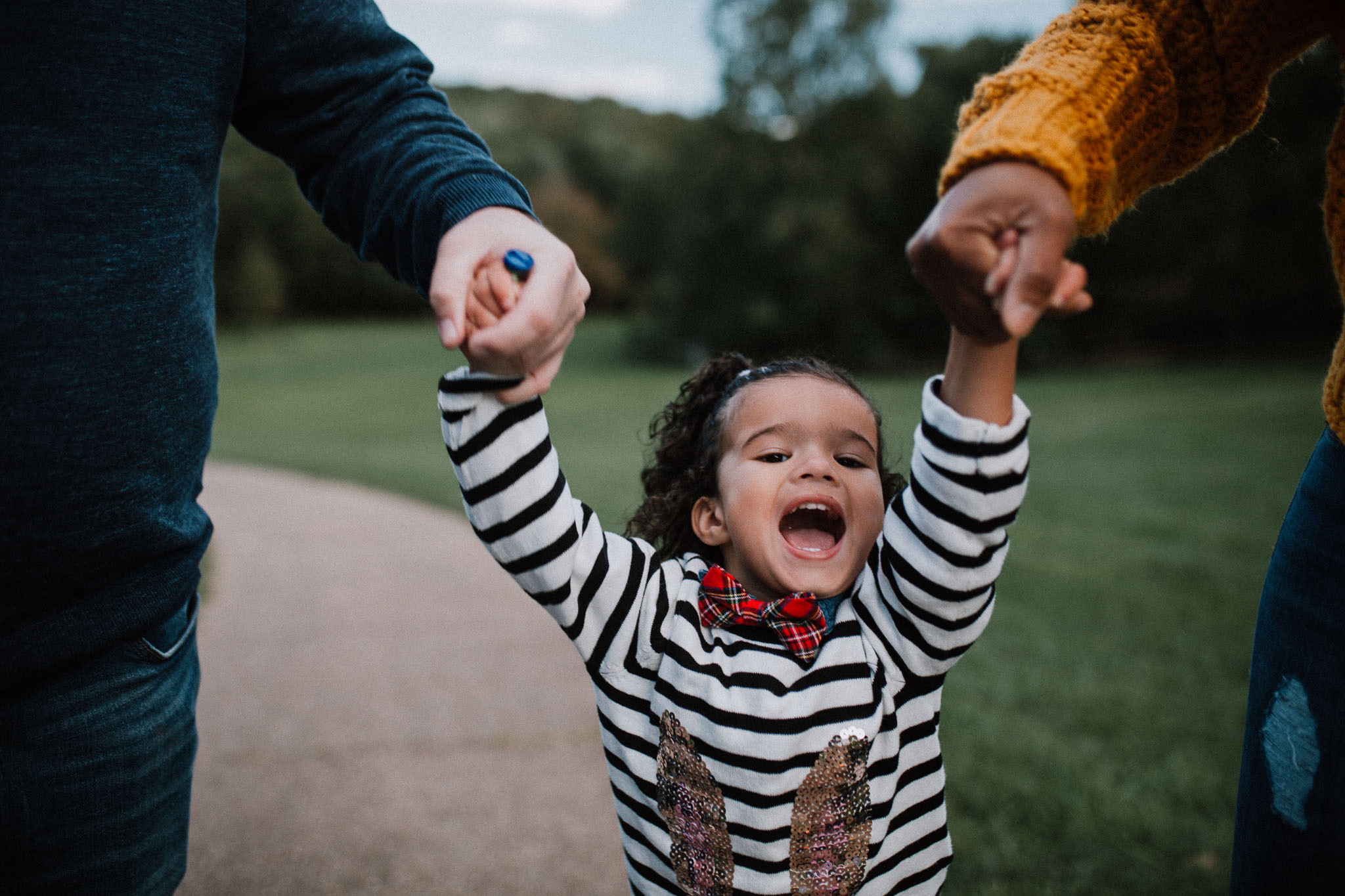 toddler girl laugh swing  fall autumn Wolf Trap Vienna Virginia Lifestyle Documentary Family Marti Austin Photography