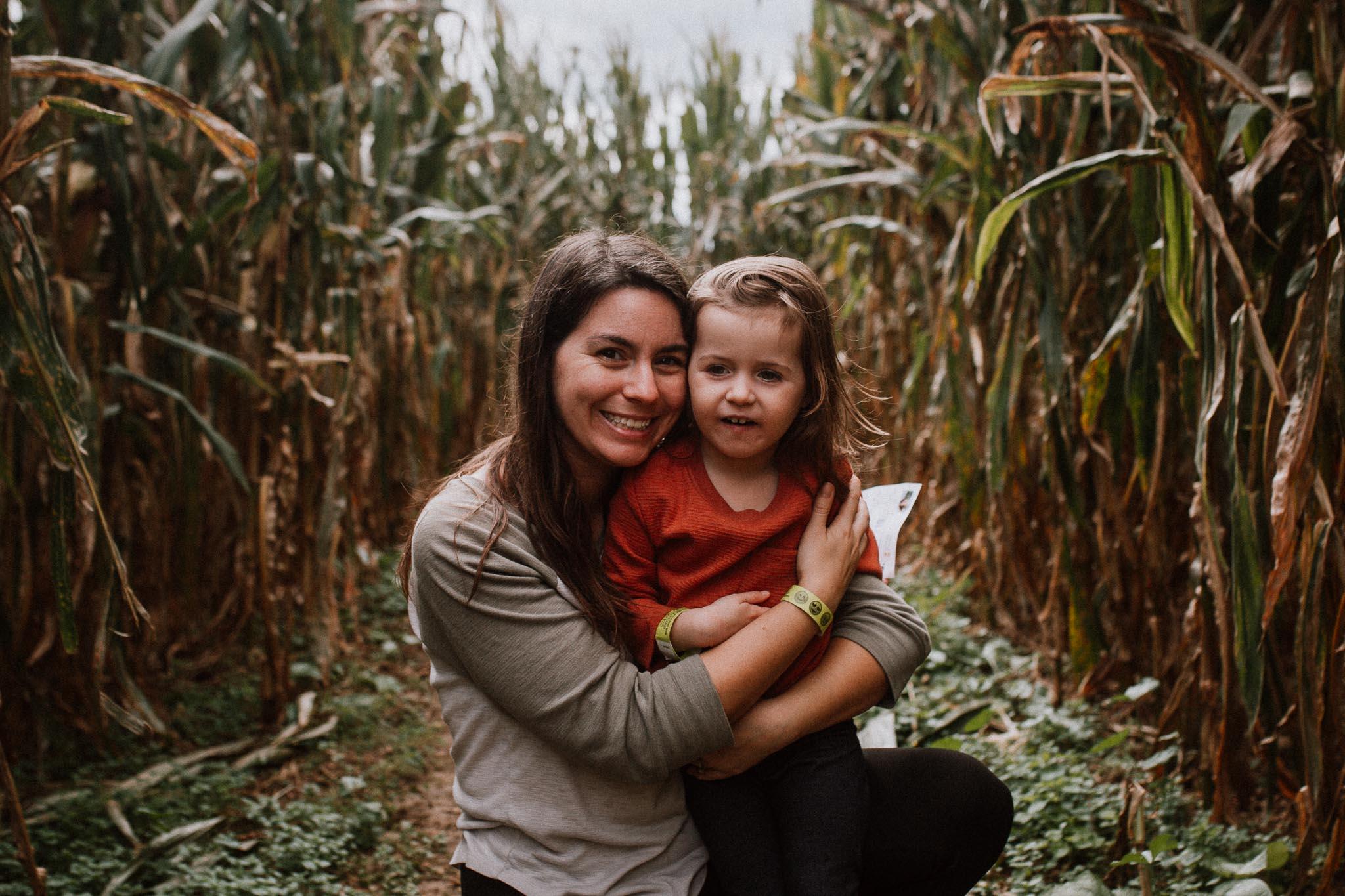 mother daughter toddler corn maze Ashburn Loudoun Virginia Lifestyle Documentary Family Marti Austin Photography