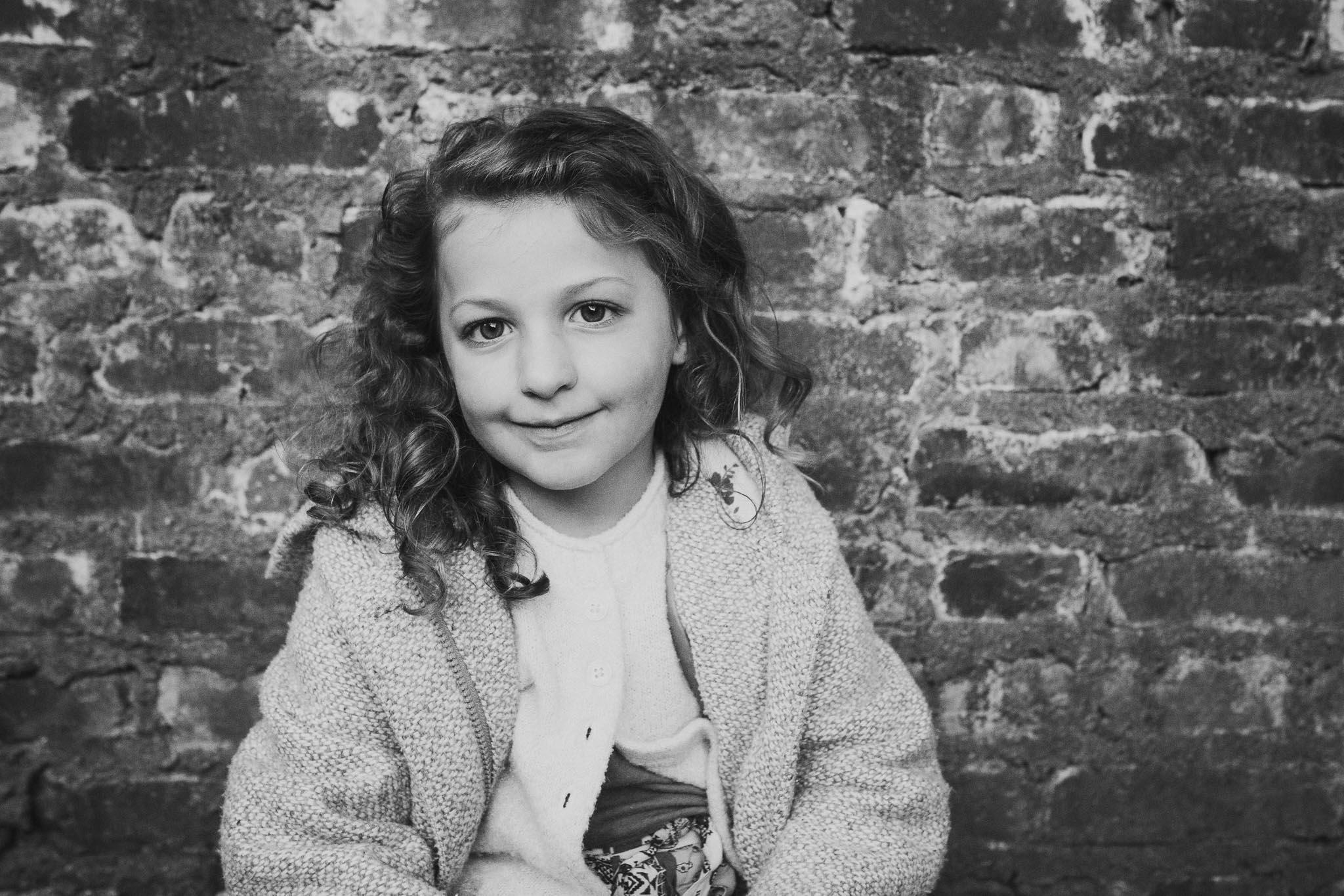 black and white portrait girl family lifestyle documentary Morven Park Leesburg Loudoun Virginia Fall Autumn Marti Austin Photography