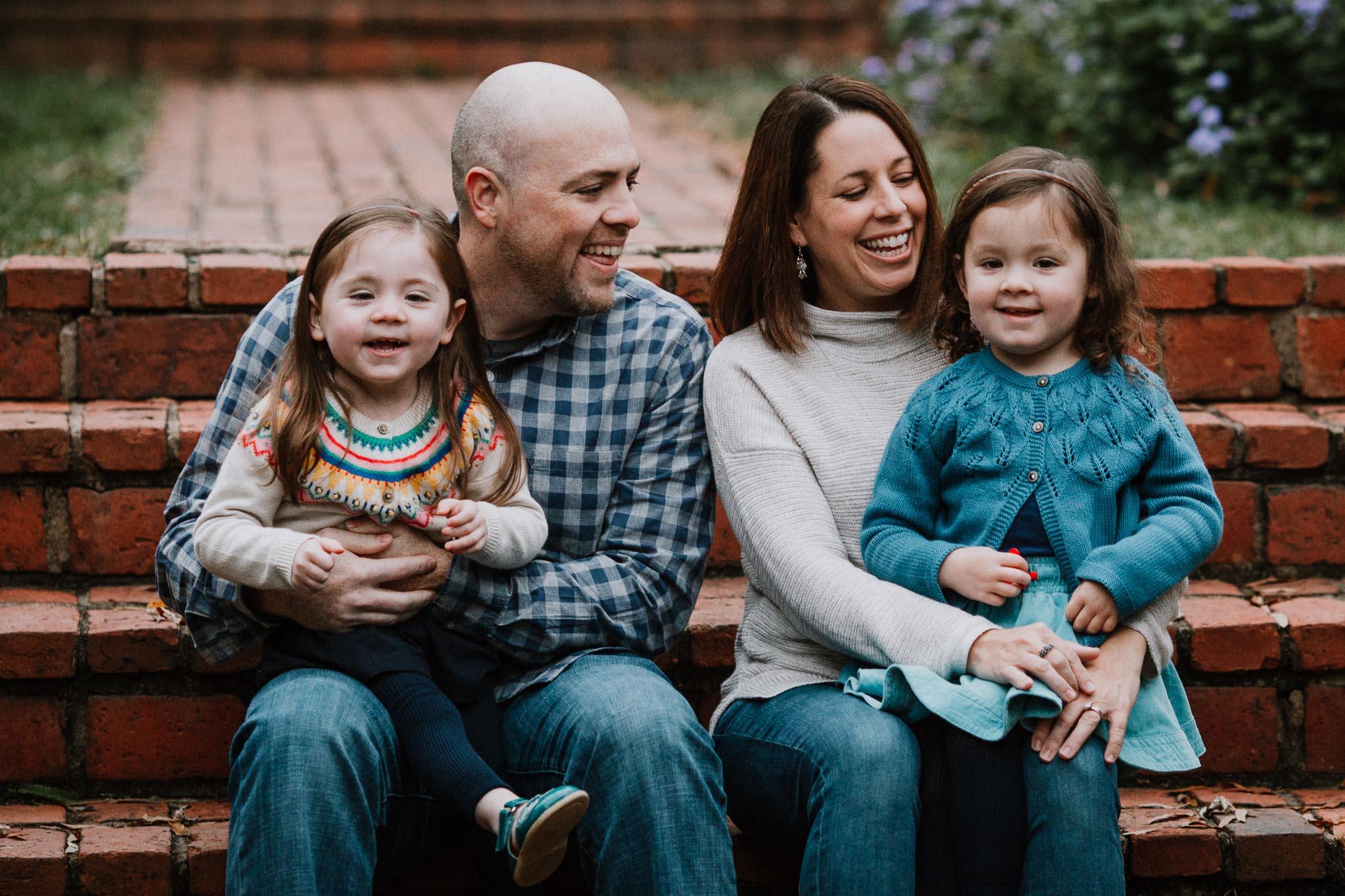 family of four family fall autumn lifestyle documentary Morven Park Leesburg Loudoun Virginia Marti Austin Photography