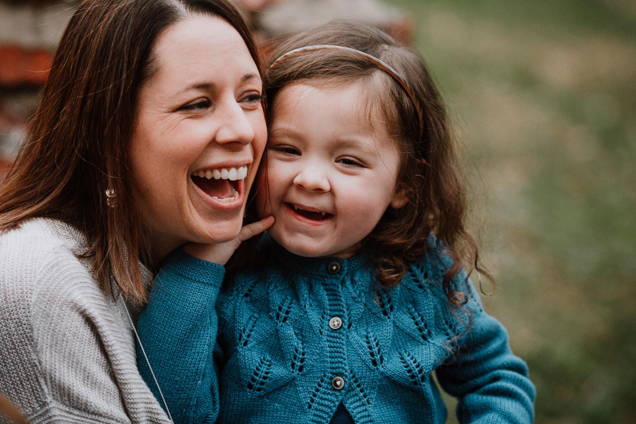 mother daughter laugh family fall autumn lifestyle documentary Morven Park Leesburg Loudoun Virginia Marti Austin Photography