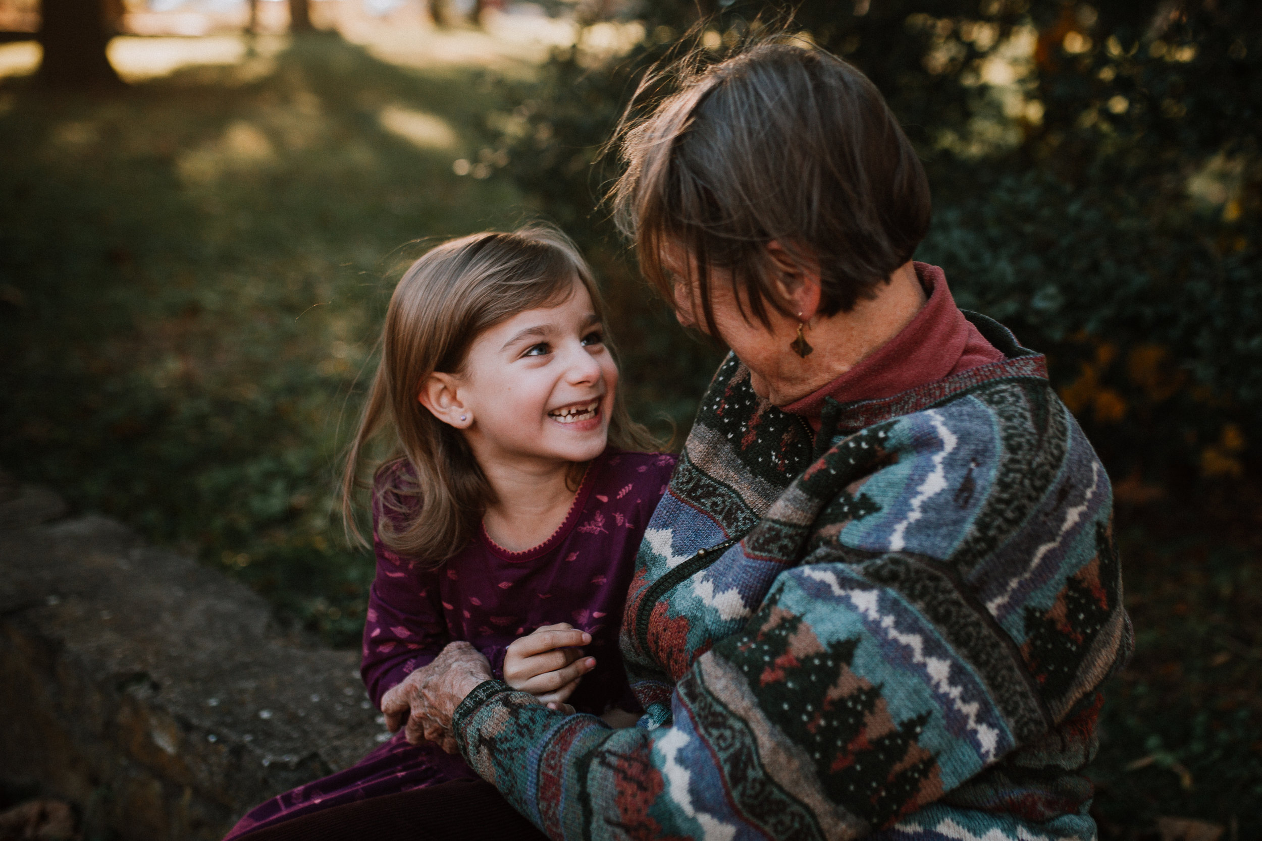 grandmother granddaughter extended family lifestyle family documentary fall autumn sunset golden Cabell's Mill Ellanor C Lawrence Chantilly Virginia Marti Austin Photography