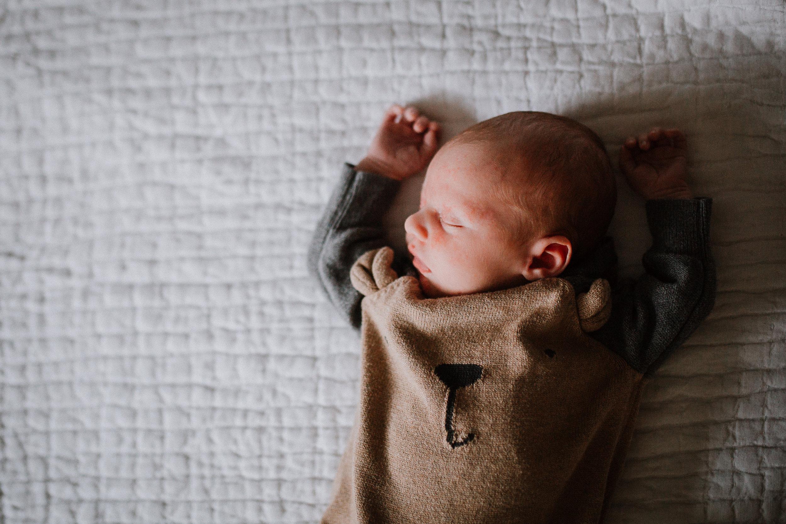 newborn baby boy portrait fall autumn lifestyle documentary family Great Falls Virginia Marti Austin Photography