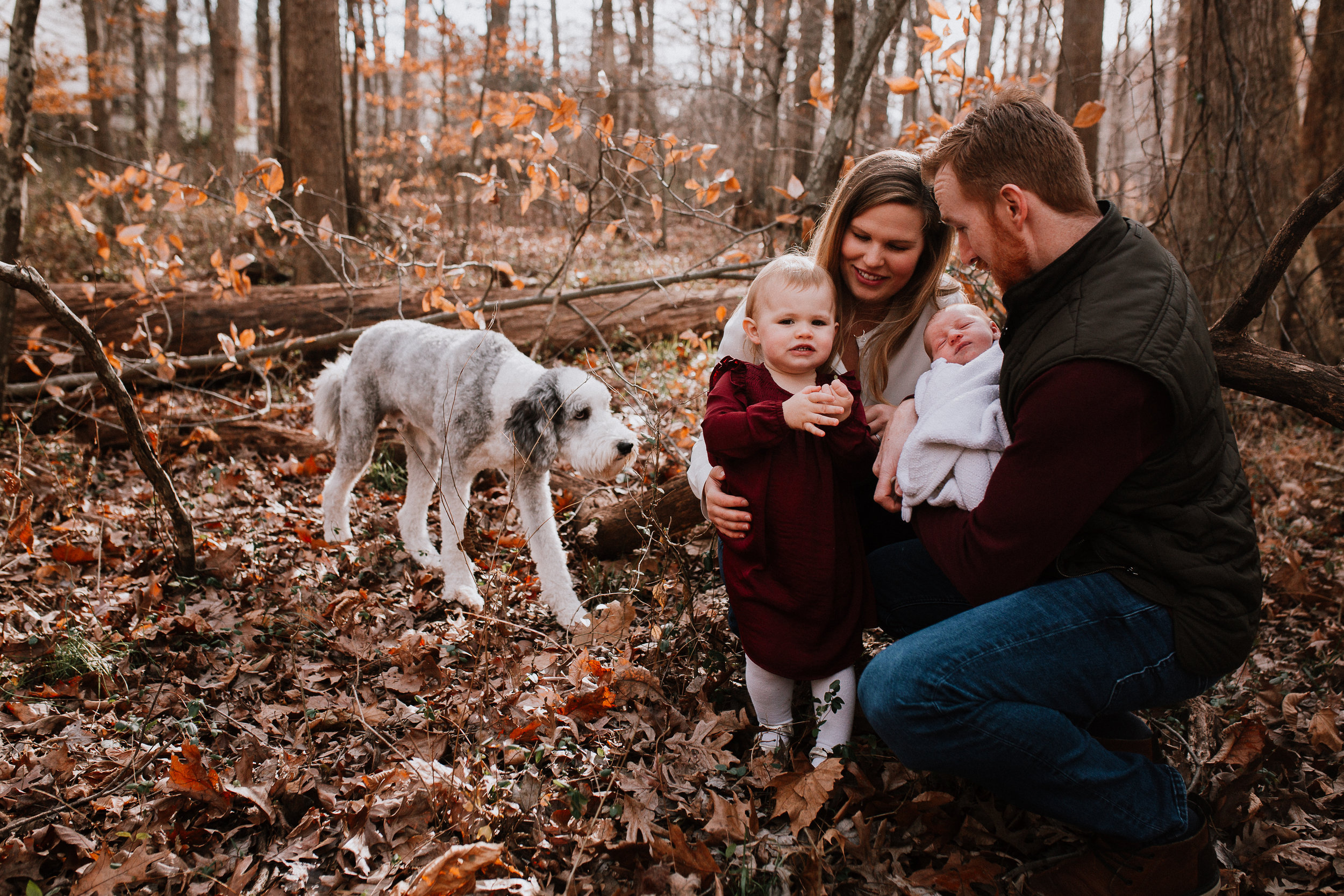 outdoor family of four fall autumn lifestyle documentary family Great Falls Virginia Marti Austin Photography